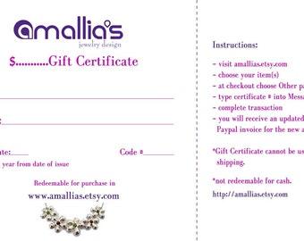 Amallias Gift Certificate - 25