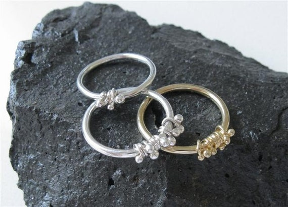 Sterling Silver Dewdrop Stacking Ring