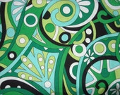 Mod swirls - Michael Miller Fabric - Kelly green- CX3297 Item Number