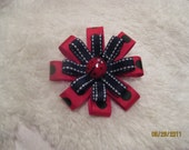 Ladybug Red and Black  Hair Bow