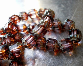 SOFTLY- Cathedral Czech Glass Beads-6mm, 10pcs