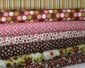 Riley Blake Design Indian Summer Collection by Zoe Pearn   100% Cotton..  1/2 Yard of each Fabric