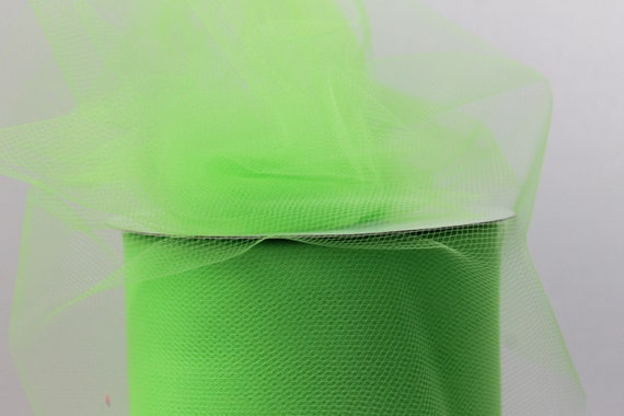 Tulle -  Apple Green Premium Nylon Tulle - 6 inches x 100 Yards