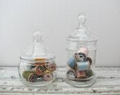 Vintage Glass Apothecary Jars