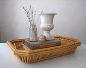 Vintage Bamboo Tray / Basket