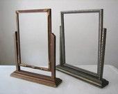 2 Vintage Wood Swivel Frames