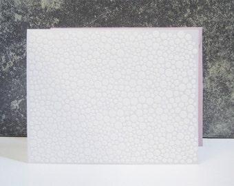 White Dots on Silver Letterpress Notecard
