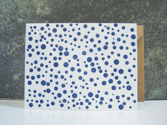 Connecting Dots - Letterpress Greeting Card