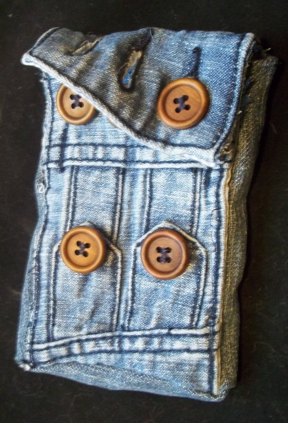 Denim IPod or IPhone 4 Pouch