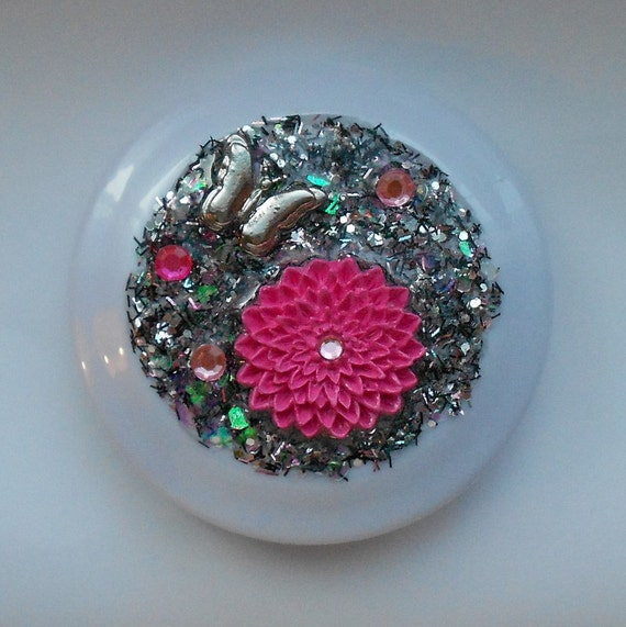 Chrysanthemum - Butterfly Party Glamour Girl Compact Mirror