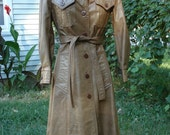 1970's leather trench coat for aspiring spys and secret agents