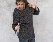 Hand knitted airy Sweater fits...XS...S...M ...3/4 sleeves