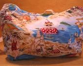Cute Beach themed print handbag, purse, tote with pockets