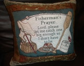 Fisherman's Pillow Cover, Fathers Day Cabin Decor