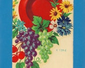 Vintage Meyercord Transfer Fruit and Flowers X 139-E