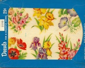 Vintage Meyercord Transfer Cottage Flowers  939-B