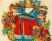 "Vintage Eagle Transfer ""Famous Artists Series"" - Dutch Girl  No. 220"