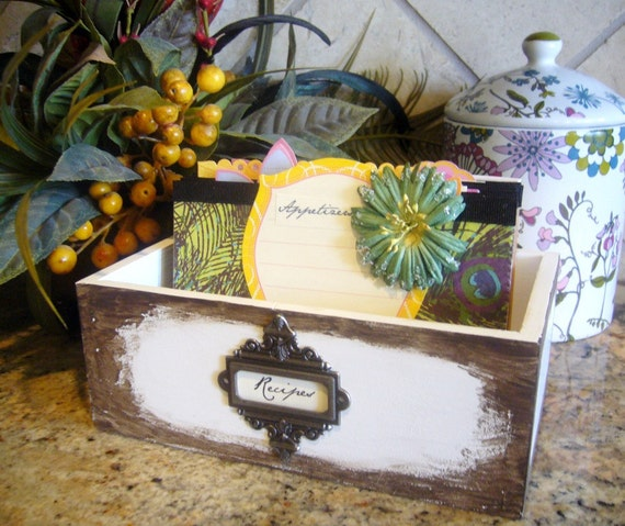 "Recipe Box and Dividers - ""Animal Print"""