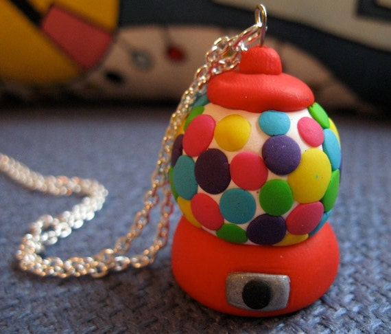Polymer Clay Gumball Machine Necklace