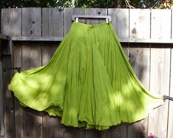 Bohemian Skirt/ Gypsy Maxi Full Skirt/ Woodland Mori girls ready to ship