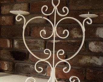 Vintage off white candelabra