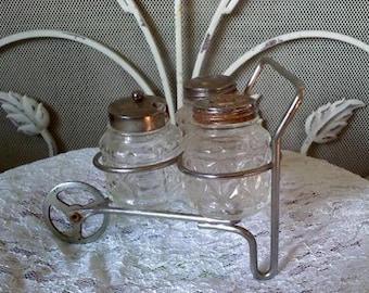 Vintage Salt and Pepper Caddy