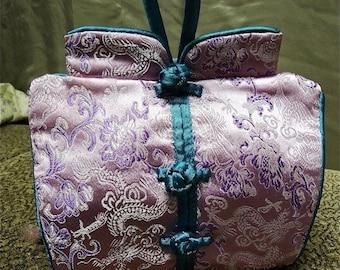 vintage purple oriental purse