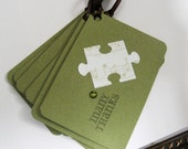 Puzzle Piece - Thank You - Gift Tag Set of 6