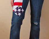 Red White & Blues - Patriotic USA Embelished Jeans - Size 4