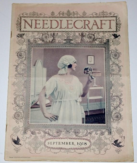 Needlecraft Magazine Book Published September 1918 Vintage