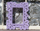 Picture Frame Ornate Lilac or Mauve 4 x 6