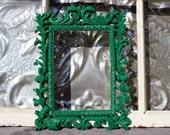 Ornate Picture Frame Emerald Green 5 x 7
