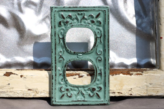 Outlet Cover Cast Iron Fleur De Lis Jade By