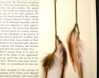 Long Feather Earrings : Smudged Pink
