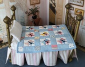 Butterfly Doll Quilt -- Vintage Fabrics