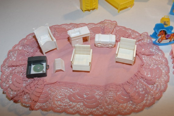 Doll House Furniture 30 Pieces from 1968
