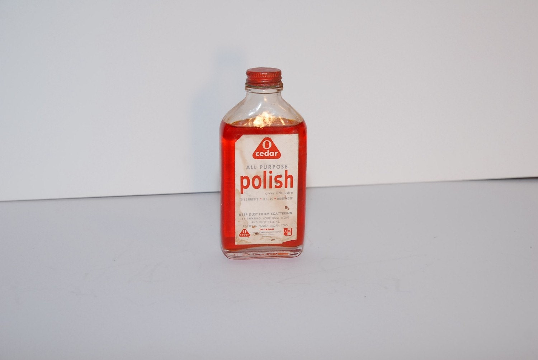Vintage Bottles O Cedar Furniture Polish Cavalier Mesh