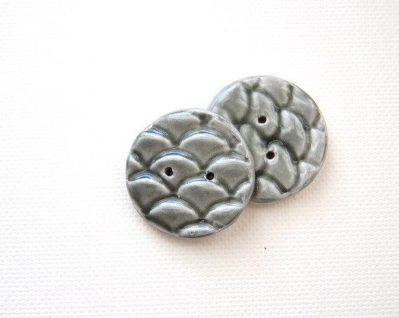 mermaid tails Porcelain Ceramic Buttons rainy day