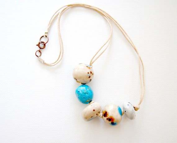 big is better Ceramic Beaded Necklace malted mocha