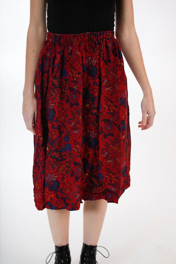 50% OFF Vintage Maroon Tapestry Skirt