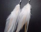 CUSTOM ORDER 0 Gauge Feather Earrings