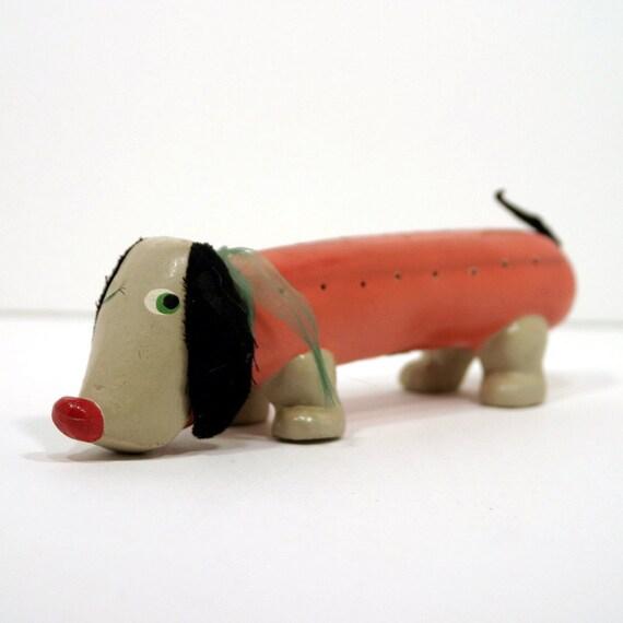 """Enesco """"Wiener"""" Dog Toothpick Holder"""