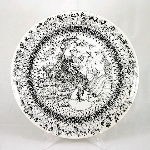 """Wiinblad """"Autumn"""" Platter / Wall Plaque, from """"The Seasons"""" by Bjorn Wiinblad for Rosenthal Studio-Linie, Germany, ca. 1970s"""