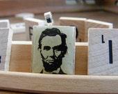 Abraham Lincoln Scrabble Tile Pendant