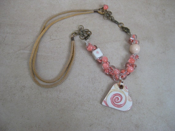 Delicate Peach Necklace