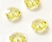 12pc - 6mm Swarovski Crystal Jonquil Flower Margarita Beads Spacers Style 3700