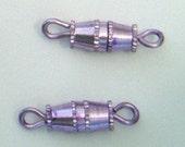 2pc - 15mm Light Purple Anodized Metal Barrel Twist Clasp Closure UNIQUE COLOR