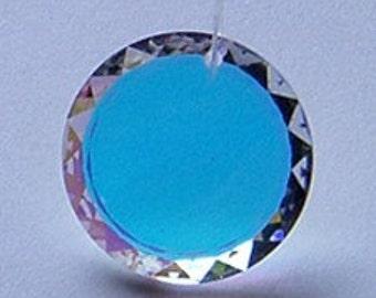 2pc 12mm Swarovski Crystal AB Round Crescent Pendant Charm Prism Style 6210