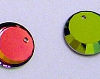 17mm Swarovski Crystal Vitrail Medium Round Crescent Pendant Charm Style 6210