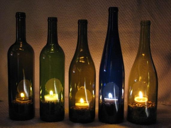 Tea Light Decorative Wine Bottle Holder